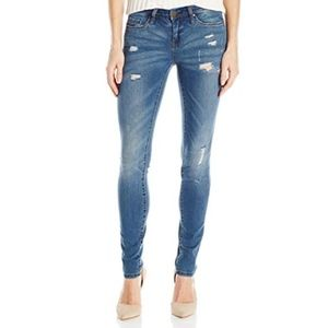 Blank NYC distressed skinny straight leg jeans